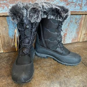 Kamik Thinsulate Waterproof Black Boot W/ Faux Fur